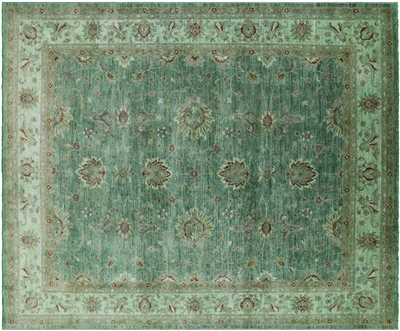 Full Pile Wool Hand Knotted Overdyed Rug