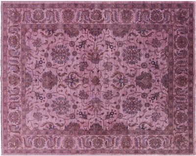 Overdyed Hand Knotted Full Pile Wool Rug