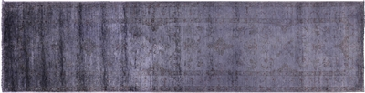 Overdyed Full Pile Wool Hand Knotted Rug