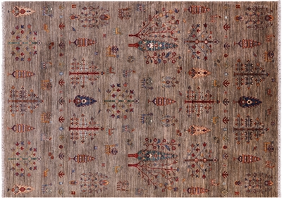 Tribal Persian Gabbeh Hand Knotted Wool Rug