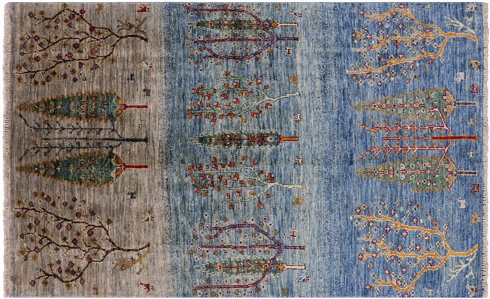 Persian Gabbeh Hand Knotted Wool Area Rug
