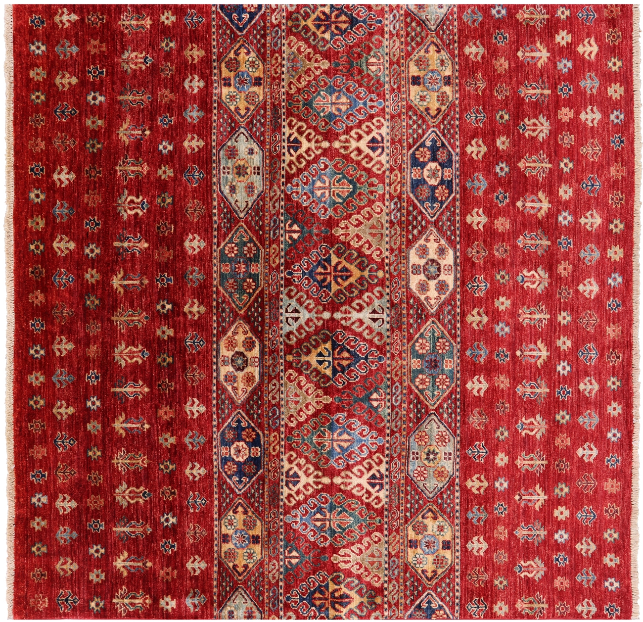 Square Persian Gabbeh Hand Knotted Wool