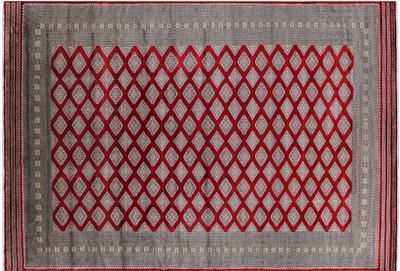 Silky Bokhara Hand Knotted Area Rug