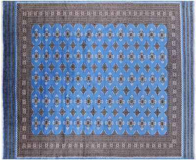 Hand Knotted Silky Bokhara Wool Area Rug