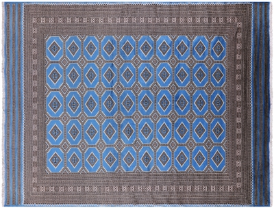Silky Bokhara Hand Knotted Wool Area Rug