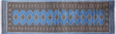 Silky Bokhara Hand Knotted Rug