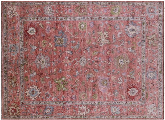 Wool On Wool Turkish Oushak Area Rug