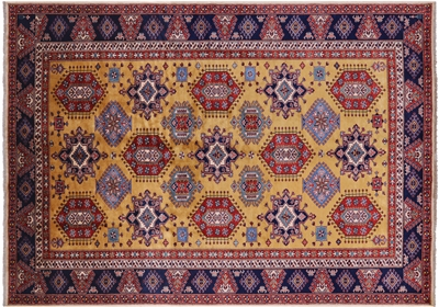 Super Kazak Handmade Wool Area Rug