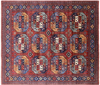 Fine Turkmen Hand Knotted Wool Area Rug