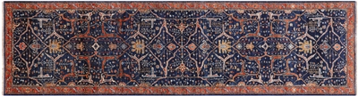 Persian Fine Serapi Hand Knotted Wool Runner Rug