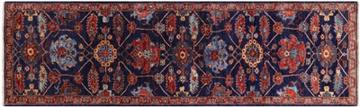 Hand Knotted Persian Fine Serapi Wool Runner Rug