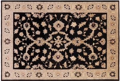 Hand Knotted Peshawar Area Rug