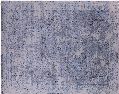Contemporary Handmade Wool & Silk Rug