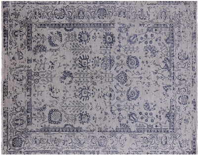 Persian Wool & Silk Hand-Knotted Area Rug
