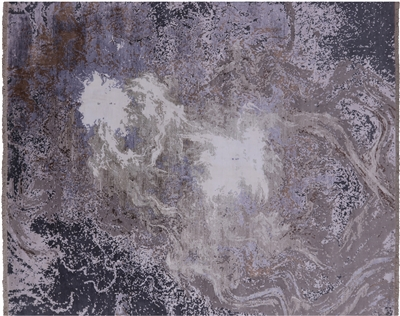 Contemporary Wool & Silk Hand-Knotted Area Rug