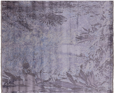 Wool & Silk Contemporary Hand-Knotted Area Rug