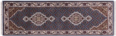 Runner Hand-Knotted Wool & Silk Persian Tabriz Rug