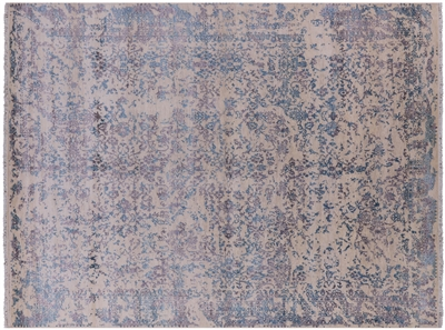Hand Knotted Persian Wool & Silk Area Rug