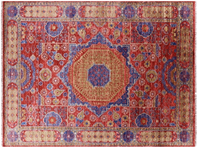 Mamluk Hand-Knotted Wool Rug