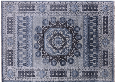 Hand-Knotted Mamluk Wool Rug