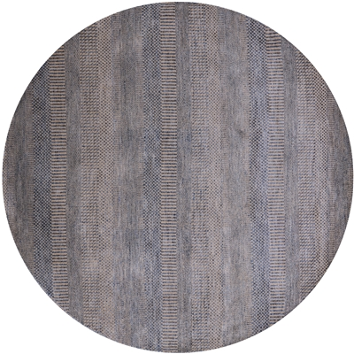 Round Savannah Gabbeh Wool & Silk Area Rug