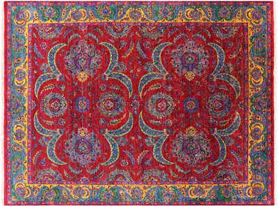 Contemporary Silk Hand-Knotted Area Rug