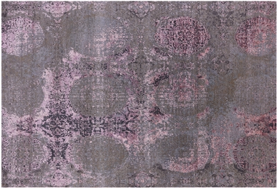 Abstract Wool & Silk Area Rug
