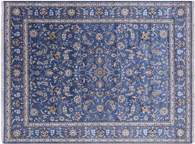 Wool & Silk Persian Nain Area Rug