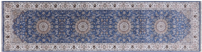 Runner Persian Nain Wool & Silk Rug