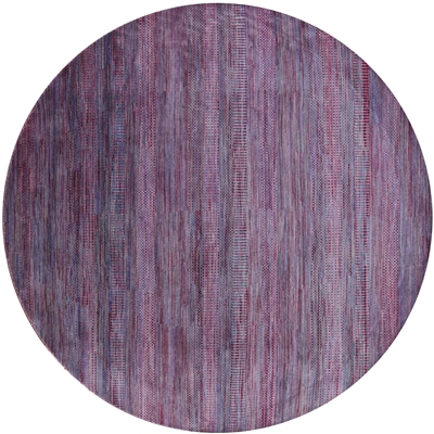 Round Savannah Gabbeh Wool & Silk Rug