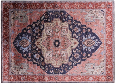 Silk Persian Serapi Hand-Knotted Area Rug