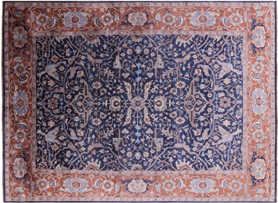 Persian Serapi Hand-Knotted Silk Area Rug