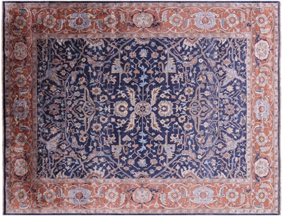Persian Serapi Silk Hand-Knotted Area Rug