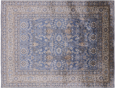 Hand-Knotted Persian Silk Area Rug