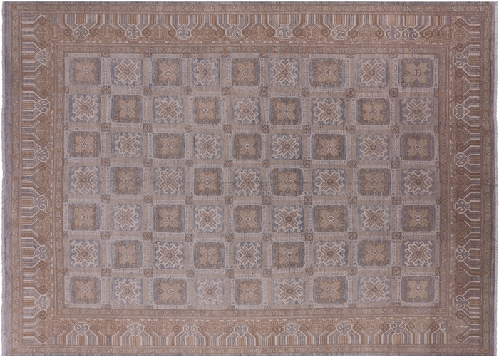 Khotan Hand-Knotted Wool Area Rug