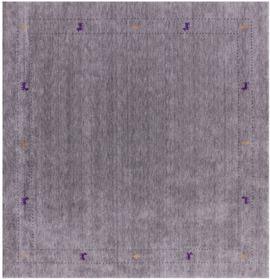 Square Persian Gabbeh Wool Rug