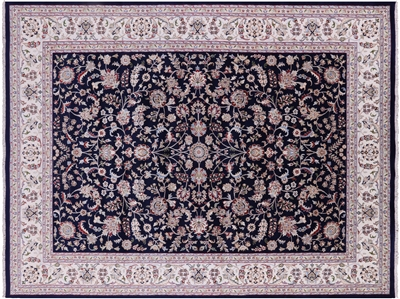 Wool & Silk Persian Nain Rug
