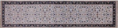 Nain Wool & Silk Runner Rug