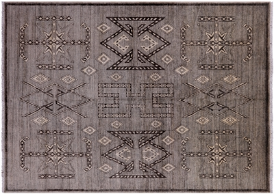 Navajo Hand Knotted Wool Area Rug