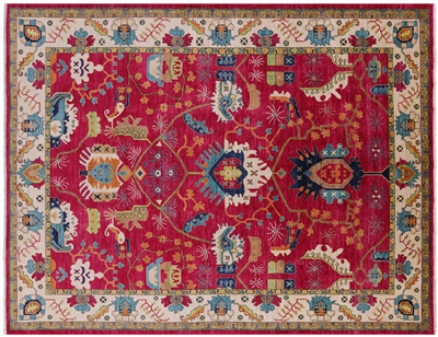 Persian Fine Serapi Hand-Knotted Rug