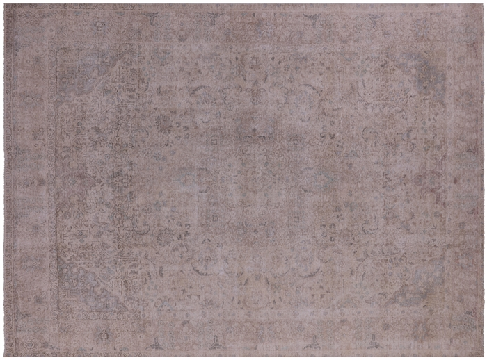 Vintage White Wash Hand Knotted Rug
