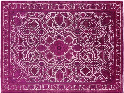 Persian Overdyed Wool Area Rug