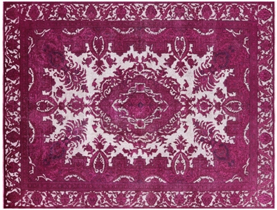 Persian Overdyed Hand-Knotted Rug