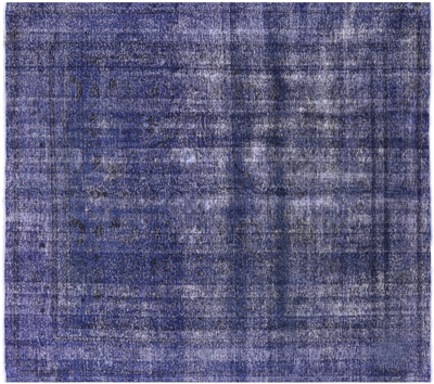 Square Overdyed Handmade Wool Rug