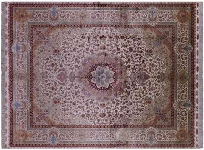 High End Silk Hand Knotted Persian Rug