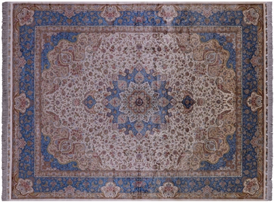 High End Persian Silk Hand Knotted Rug