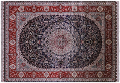 High End Persian 100% Silk Hand Knotted Rug