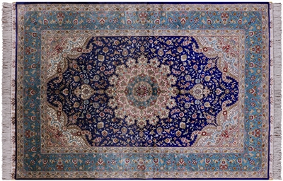 Persian Silk High End Hand Knotted Rug