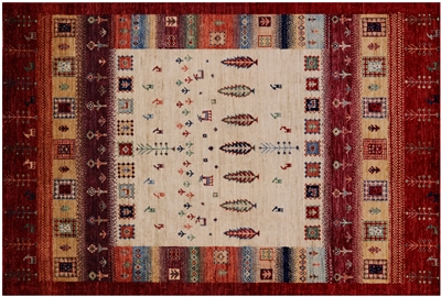 Tribal Gabbeh Hand Knotted Wool Rug
