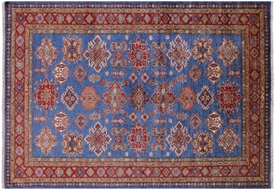 Super Kazak Hand-Knotted Wool Rug